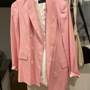 Zara bubble gum pink blazer